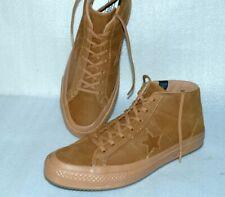 Converse 158834C ONE STAR MID Rau UP Suede Leder Schuhe Sneaker 45 Goldbraun