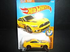Hot Wheels Ford Mustang GT 2015 Yellow 1/64