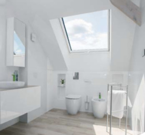 Fakro Velux Roof Light Window Pine White Acrylic PVC White Poly - Grey