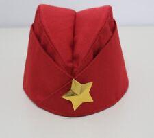 Soviet USSR Red Army WW2 Military Uniform Pilotka Hat Star Cap Russian Пилотка