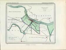 Antique Map-NETHERLANDS-TOWN PLAN-PUTTERSHOEK-ZUID HOLLAND-Kuyper-Kuijper-1865