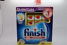 Finish Quantum Powerball Lavastoviglie Compresse Power Gel Lemon brillante - 40 Scheda