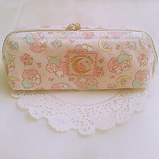 Little Twin Stars Sanrio Kiki Lala Pen Pouch Cosmetic Case Bag Purse Wired