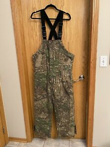 Cabelas Vintage Gore-Tex Insulated Bib Overalls L/S  Realtree Timber Lined