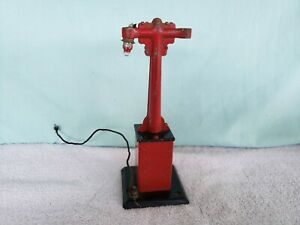Vintage Older Marx Train Model Railroad Metal Light Tower Twin Lamp Post