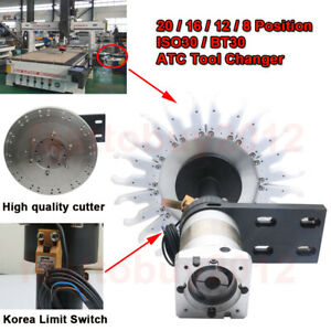 Automatic ATC Tool Changer 20/16/12/8 Position  ISO30/ BT30 CNC Milling Machines