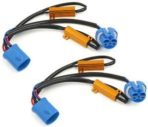Wire LED Resistor Canceler Error Decoder 9007 HB5 Flicker Fix Plug Play Lamp