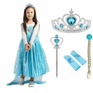 Halloween Custume Kids Princess Frozen Party Cosplay Elsa Princess Girls Dresses