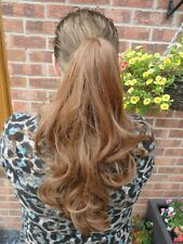 """NEW IN BAG,LONG18"""",AUBURN/GOLDEN BROWN,CURLY PONYTAIL HAIR PIECE"""