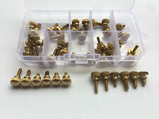 45pcs M3 M4 Brass Hand Twist Screws Step Round Head Bolts Rotation Screw Bolt