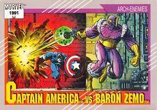 CAPTAIN AMERICA VS. BARON ZEMO / Marvel Universe Series 2 (1991) BASE Card #99