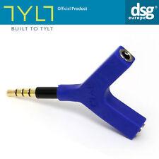 Tylt SPL-3.5M2FBL-T Y-Split 3.5 mm Headphone and Speaker Splitter for Smartpho