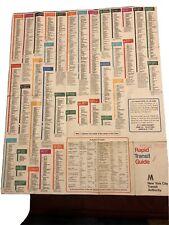 Vintage 1968 New York Subway Map M Rapid Transit System Guide Myrtle Avenue El