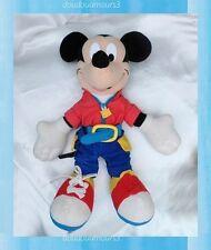 Doudou Peluche Mickey Activités Pantalon Bleu Haut Rouge Fisher Price 35 cm
