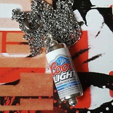 Unique COORS LIGHT NECKLACE miniature BEER pub LAGER cool GIFT novelty CAN