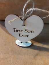 Handmade Wooden Gift Tags Best Son Ever