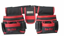 Heavy duty 20 Pocket Double Tool Belt & Nail Pouch Storage Tape Hammer Holder