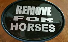 Trailer Hitch Receiver Insert REMOVE FOR HORSES