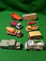 9 x MATCHBOX LESNEY joblot of vintage diecast Trucks Trailers gps rare lorrys