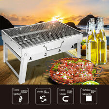 Portable Stainless Steel Charcoal BBQ Grill Shish Kabob Patio Camping Barbecues