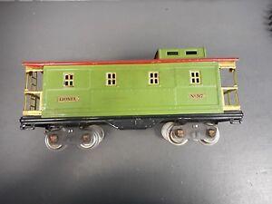 Lionel Prewar #517 Green and Red Caboose