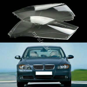 Headlight Lens Plastic Cover Clear Lampshade 4769886123 For BMW E90 E91 04-07