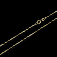 50cm ANKERKETTE Collier 333er gelb GOLD Kette Diamantiert 1,2mm 2,1g 3700