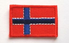 NORWAY NATIONAL COUNTRY FLAG EMBROIDERED 2 x 3cm. SEWING IRON-ON PATCH FREE SHIP
