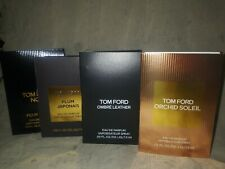 NEW TOM FORD, 4 different scent perfume samples, OMBRE LEATHER, PLUM JAPONAIS