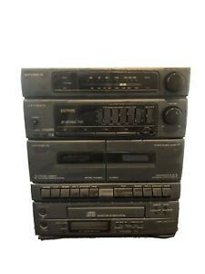 OPTIMUS System 713 Model 13-1260 CD-7200 tower unit TESTED WORKS CD Cassette WOW