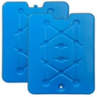 2er Set XXL Flache Kühlelemente blau | Kühlakkus Kühlbox | Kühlpads Kühltasche