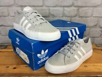ADIDAS OG UK 5.5 EU 38 2/3 GREY WHITE NIZZA LO TRAINERS GIRLS CHILDRENS LADIES