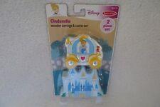 Disney Cinderella Wooden Carriage & Castle Set New