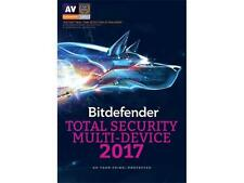 Bitdefender Total Security 2017 Multi-Device 5 Devices 1 Year - Retail Box , NEW