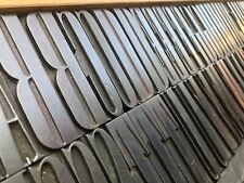 154pcs 3 Rare Alphabet Letterpress Printing Wood Type Art Nouveau Bordeaux Font