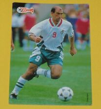 FOOTBALL CARD UEFA EURO 96 1996 LETCHKOV BULGARIE BULGARIA EUROPEAN STARS PANINI