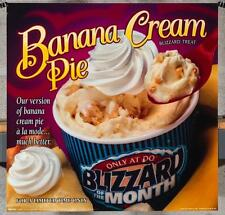 Dairy Queen Promotional Poster For Backlit Menu Sign Banana Cream Blizzard dq2