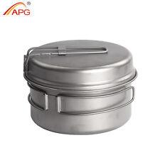 2pcs Titanium Camping Cookware Picnic Pots and Pans Cooking Equipment 500ml APG