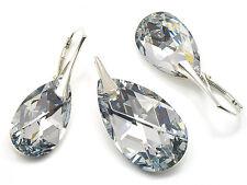 925 Sterling Silber Schmuck Set mit Swarovski Elements Kristall Crystal CAL Box
