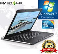 Dell ultraportable Laptop Latitude Windows 7 Core 2 Duo 4GB Ram Computer HD LED