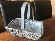 Grey Wicker Basket / Planter Wedding / Home Decoration