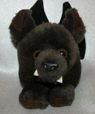 """Vintage 1994 Puffkins Brown Bat Plush Toy 4.5"""" Swibco Beanbag Plush Animal"""