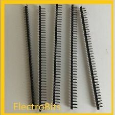 5pcs 40 way Pin Header Plug 2.54mm Pitch Single Row Right Angled,