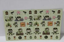 48 army soldier obstacle  stickers birthday party loot bag party favours reward