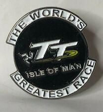 More details for isle of man tt souvenir pin badge 25 x 24 mm motorsport motorcycle racing