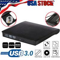 USB 3.0 Slim External DVD RW CD Writer Drive Burner Player Drives For Laptop PC