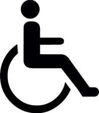 Disabled Wheelchair Vinyl Decal Sticker for Car