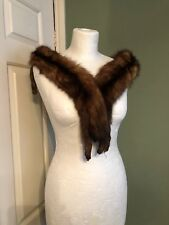 Vintage 1930's Real Fur Stole Collar Art Deco Winter Trim