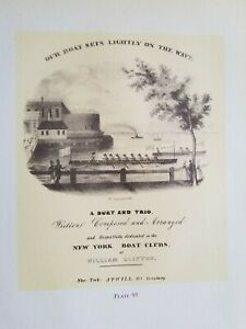 William Clifton OUR BOAT SETS LIGHTLY ON THE WAVE For NEW YORK CLUB Currier Ives