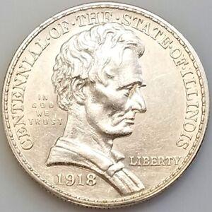 1918 Illinois Centennial/Abraham Lincoln Commemorative Half Dollar!